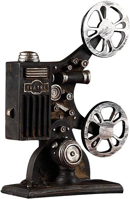 VOSAREA Proyector de Cine Modelo Vintage Estilo Escritorio artesanías decoración del hogar (Negro)