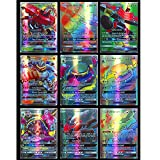 Kamela 100 PCS Cards EX Full Art: 89 GX + 11 Trainers, Full Art GX Mega EX Cards, Vmax Break Tag Team Cards, Holiday Toy Gifts for Kids