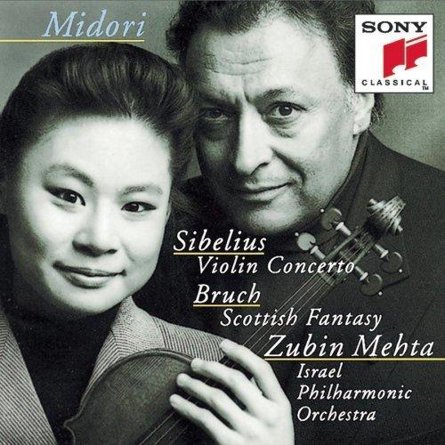 Sibelius: Violin Concerto / Bruch: Scottish Fantasy by Midori (1994) Audio CD