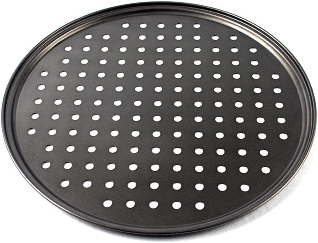 Cedmon Nonstick Carbon Steel Pizza Tray Pizza Pan With Holes 12 5 Inch