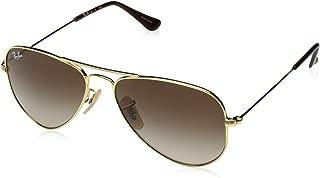 Ray-Ban Junior RJ9506S Aviator Kids Sunglasses, Gold/Brown Gradient, 52 mm
