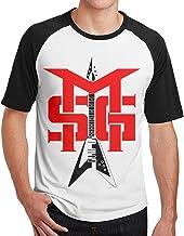 Grupo Michael-Schenker Nuevo Estampado Estampado Hombres Manga Corta Camiseta raglán Hombres Camisetas algodón Camisetas Tops Hombre