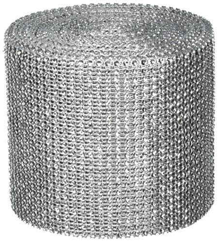 Wedding GLITTER Tulle Roll 6in x 30ft SILVER Sparkling Tulle (10 yards)