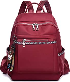 North face Backpack Backpack Female Oxford Canvas Large Capacity Fashion Casual Wild Simple Lady Travel Backpack The North face Backpack (Color : Red)