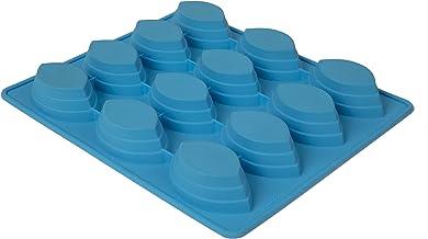 Mobi 12 Dessert Boats Silicone Baking Mold, Blue