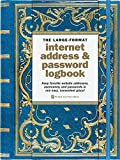 Celestial Large-Format Internet Address & Password Logbook (removable cover band...