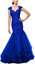 Mother of The Bride Dresses Sweetheart Long Mermaid Formal Prom Gown with Embroidery