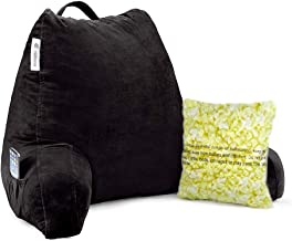 Vekkia Reading & Bed Rest Pillow with Support Arms, Pockets, Memory Foam. Perfect Back Support Cushion for Adults Reading/...