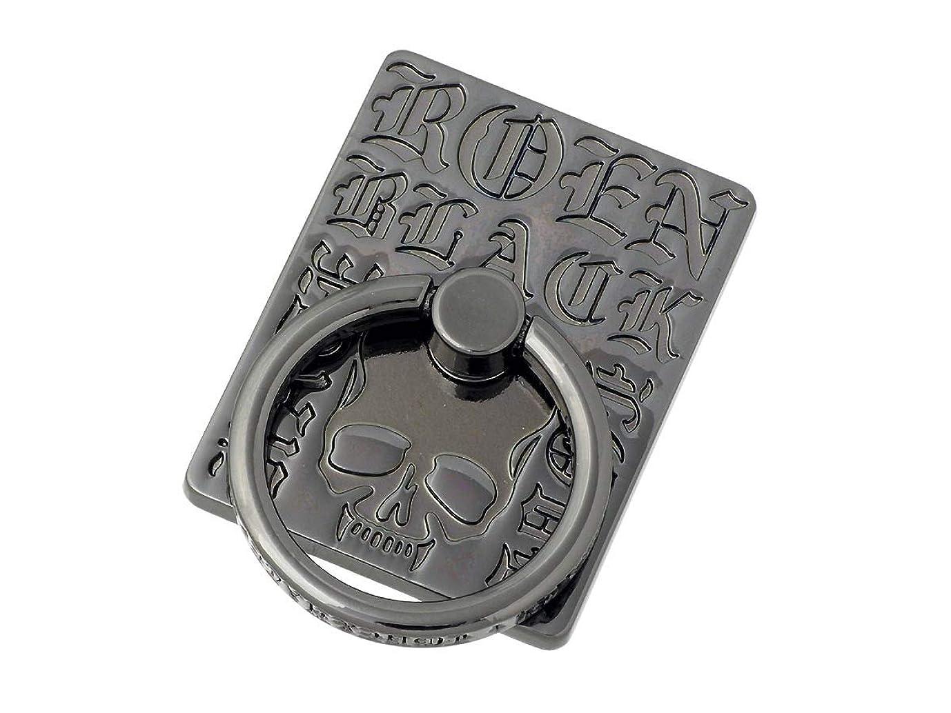 マウントしみインタフェースRoenBLACK ロエンブラック スマホリング スマホスタンド ホールドリング スマートフォン アクセサリー ROSR-104