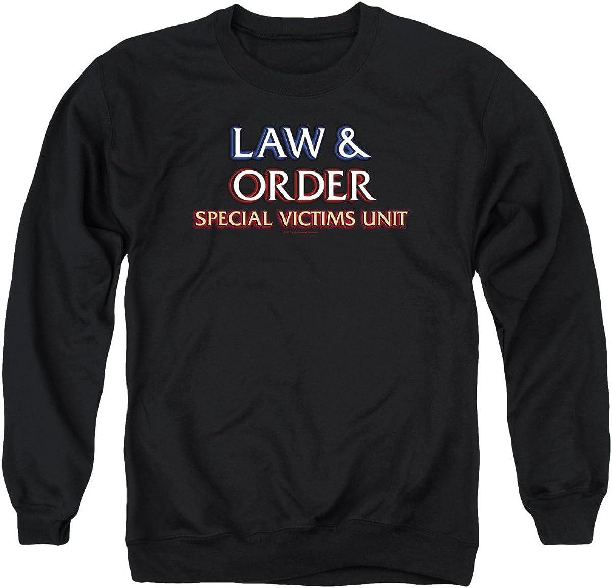 Law and Order SVU Outlet SALE Logo Unisex Crewneck Men Sweatshirt Adult San Francisco Mall for