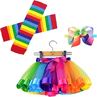 BGFKS Tulle Rainbow Tutu Skirt for Newborn Baby Girls Photography Outfit Sets Baby Girls 1st Birthday (Rainbow-2, S,0-24 Months)
