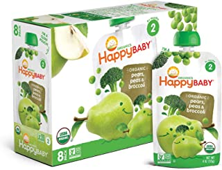 Happy Baby Organic Stage 2 Baby Food, Simple Combos, Spinach, Apples & Kale, 4 Ounce (Pack of 16)