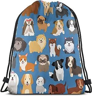 MSGUIDE Drawstring Backpack Bag, Polyester Cinch Sack, Waterproof Sport Gym Bag School Daypack for Boys Girls