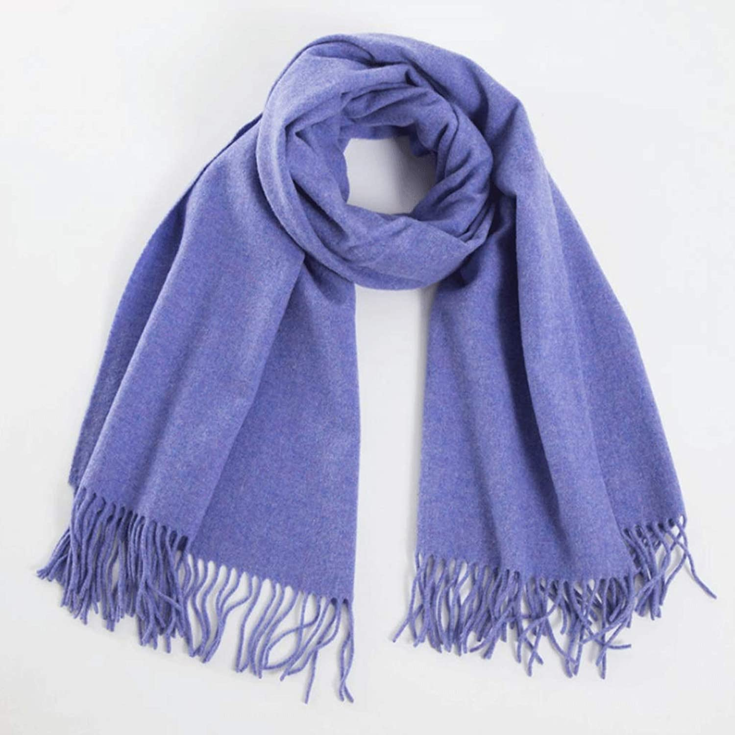 CCF Muffler Solid color Warm Lambskin Scarf Fashion Wool Scarf Big Shawl Unisex V (color   2)