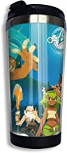 Vacuum Water Bottle Cup for Coffee & Tea - Outdoor Tumbler Mug with One Hand Operation Action Lid - Wakfu Season 4 The Ugly Pageant Poster Stainless Steel Insulated 14 Oz