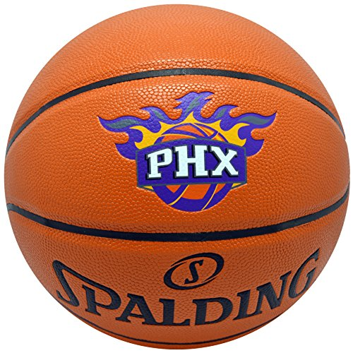 Spalding NBA Suns Basketball Game Ball Series Team Edition Phoenix Suns Composite Leather Ball image