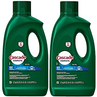 Cascade Complete Gel Dishwasher Detergent, Fresh Scent, 2 Packs of 45 Ounces