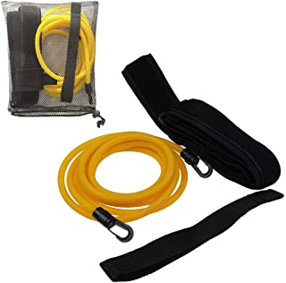 AUXPhome (Pack of 2) Stationary Swimming Exercise Belt//Swim Ankle Strap Bungee Trainer Belt Swimming Resistance Leash Stationary System Swimmer Swim Lap Swim Training Leash//for Pools and Swim Spas