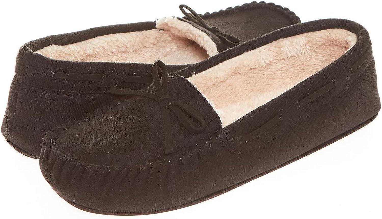 Seranoma Women's Slip-On Faux Fur Lined Flats Moccasin Slipper