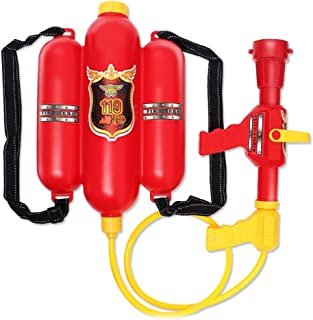 Sanwooden Interesting Toy Backpack Water Spray Toy Fireman Cosplay Backpack Water Spray Nozzle Extinguisher Outdoor Sports...