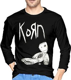 Mens Classic Korn Long Sleeve T-Shirts S Black