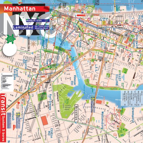 Queens And Manhatan Subway Map.Nyc Subway Map Amazon Com