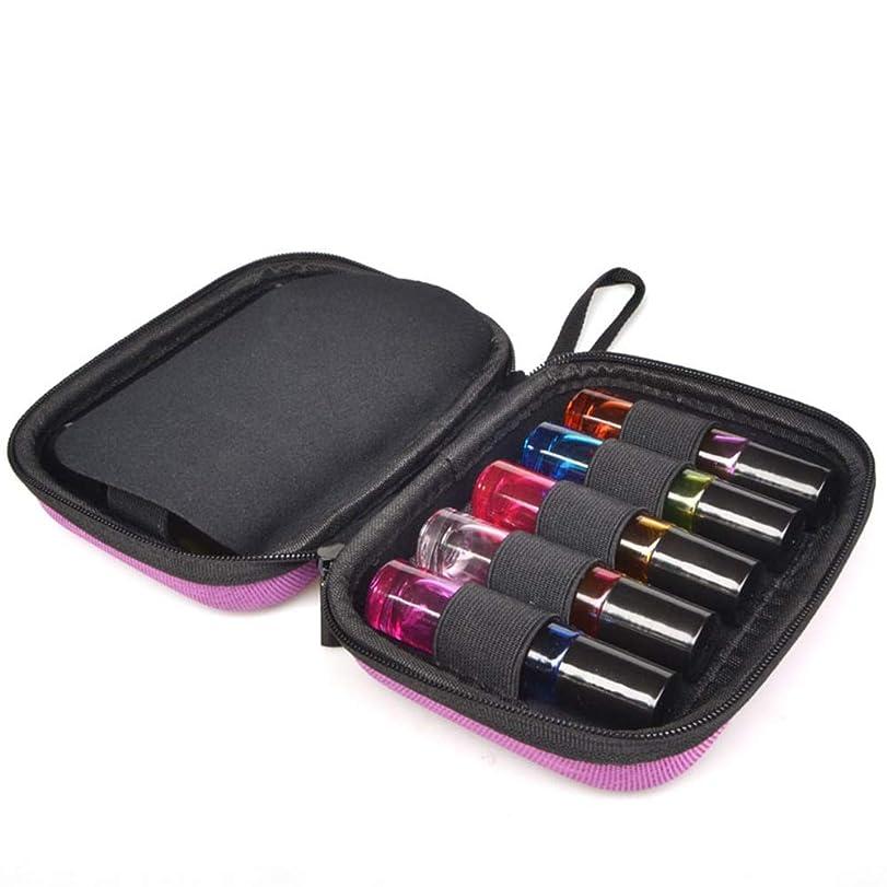 電池叙情的な甘やかすハードシェルケースは、旅行のための10本のボトル完璧にアップ保護ローラーボトル用ケースプレミアム保護キャリングエッセンシャルオイル アロマセラピー製品 (色 : ピンク, サイズ : 14.5X11.5X5.5CM)
