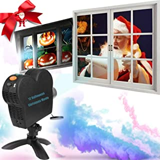 2021 Window Projector Lights, LED Christmas Wall Projection Light with 12 Rotating Movie Spotlight Waterproof Indoor Outdo...