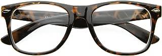 Vintage Inspired Eyewear Original Geek Nerd Clear Lens Horn Rimmed Glasses (Tortoise)