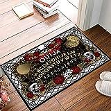 Brawvy Welcome Door Mat,Halloween Dangerous Magical Game Ouija Board Decorative Indoor Doormat Non Slip Front Door Mat,Low Profile Mat for Entry Patio Garage 16x24 Inch