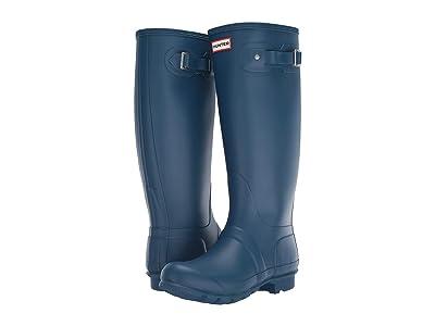Hunter Original Tall Wide Leg Rain Boots (Wave Blue) Women
