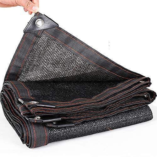 Markisen 8-Pin-Verdickung-Verschlüsselungs-Sonnenschutznetz-Sonnenschutz-Isolationsnetz-Innenhof-Dachbalkon (Farbe : Schwarz, größe : 4x7m)
