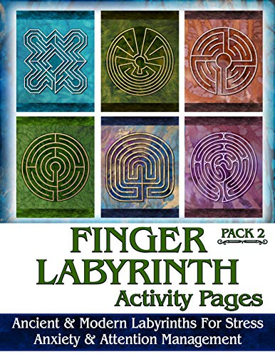 Ravensdaughter Designs Finger Labyrinth Activity Pages Pack 2: Focus Tools for Stress, Anxiety & Attemtion Management