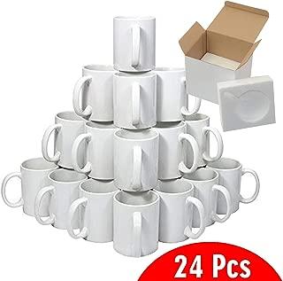 15oz Sublimation Mugs With Gift Mug Box. Mugs - Cardboard Box with Foam Supports Case of 24