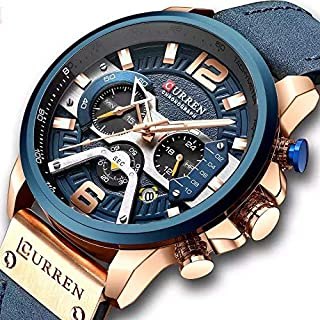 Curren Sport Watch For Men Analog Leather - 5634