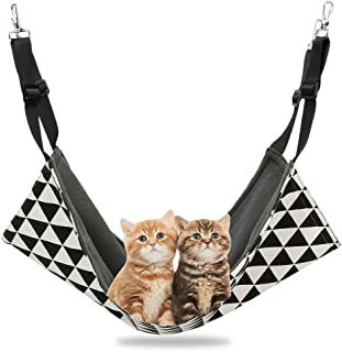 ASOCEA Cat Hammock Pet Soft Warm Hanging Bed Nest Rat Hideout Toys Cage Accessories for Small Cat Dog Guinea Pig Hamster R...