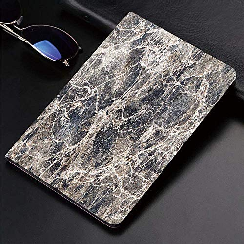 Case for iPad (9.7-Inch, 2018/2017 Model, 6th/5th Generation)Ultra Slim Lightweight Smart Cover,Marble,Ceramic Style Grunge Scratches with Formless Lines and Cracks Artwor,Smart Covers Auto Wake/Sleep