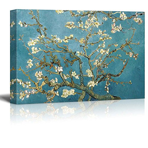 wall26 - Almond Blossom by Vincent Van Gogh - Canvas Art Wall Art -