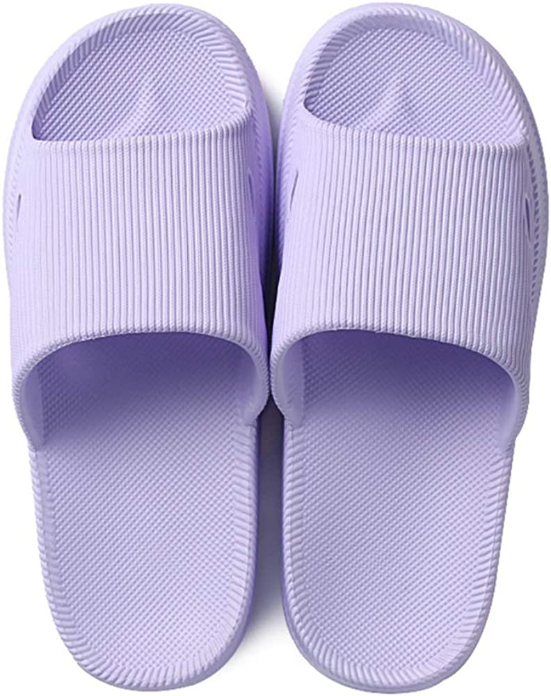 Slides for Women Men Shower Bathroom Pillow Sandals Open Toe Soft Cushioned Thick Sole Pool Gym House Slippers Outdoor Slide Shoes
