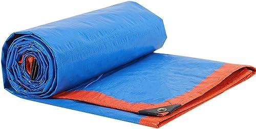 AJZXHE Bache de Camion, bache en Plastique Anti-Corrosive et imperméable à l'eau, Tissu extérieur de Parasol antipoussière et Coupe-Vent de Hangar, Tente
