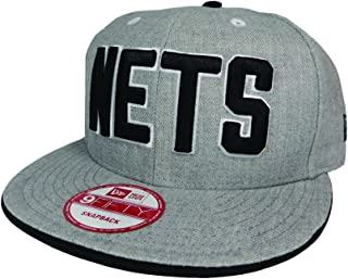 quality design 96a95 773e9 New Jersey Nets NBA HWC Heather Team Color 9FIFTY Snapback Cap