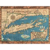 Artery8 Smith 1933 Pictorial Map Long Island NY History XL