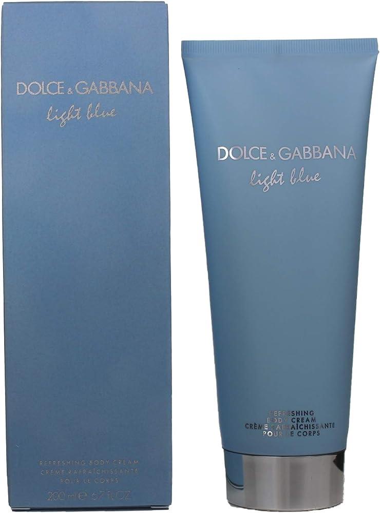 Dolce&gabbana light blue - crema corpo rinfrescante donna, 200 ml 238020