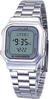 HXZB Anglais Et Prière Arabe Azan Watch, Calendrier Quartz Numérique Montre Étanche avec Prière Automatique Boussole pour ...