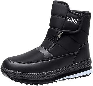Unisex Solid Color High-top Platform Snow Boots, Women Men Outdoor Sports Shoe Warm Cotton Non-Slip Velvet Lined Shoes