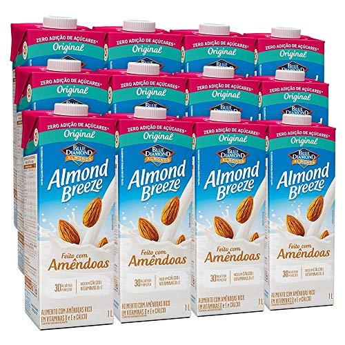 Kit Bebidas de Amêndoas Almond Breeze Zero 12x1L