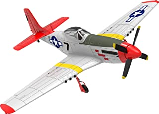 VOLANTEXRC RC Warbirds Plane P-51D Mustang Red Tail Remote Control War Airplane with 750mm(29.5