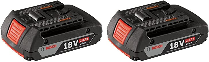 Bosch BAT612 18V 2.0Ah Lithium Ion Slim Pack Battery (2 Pack)