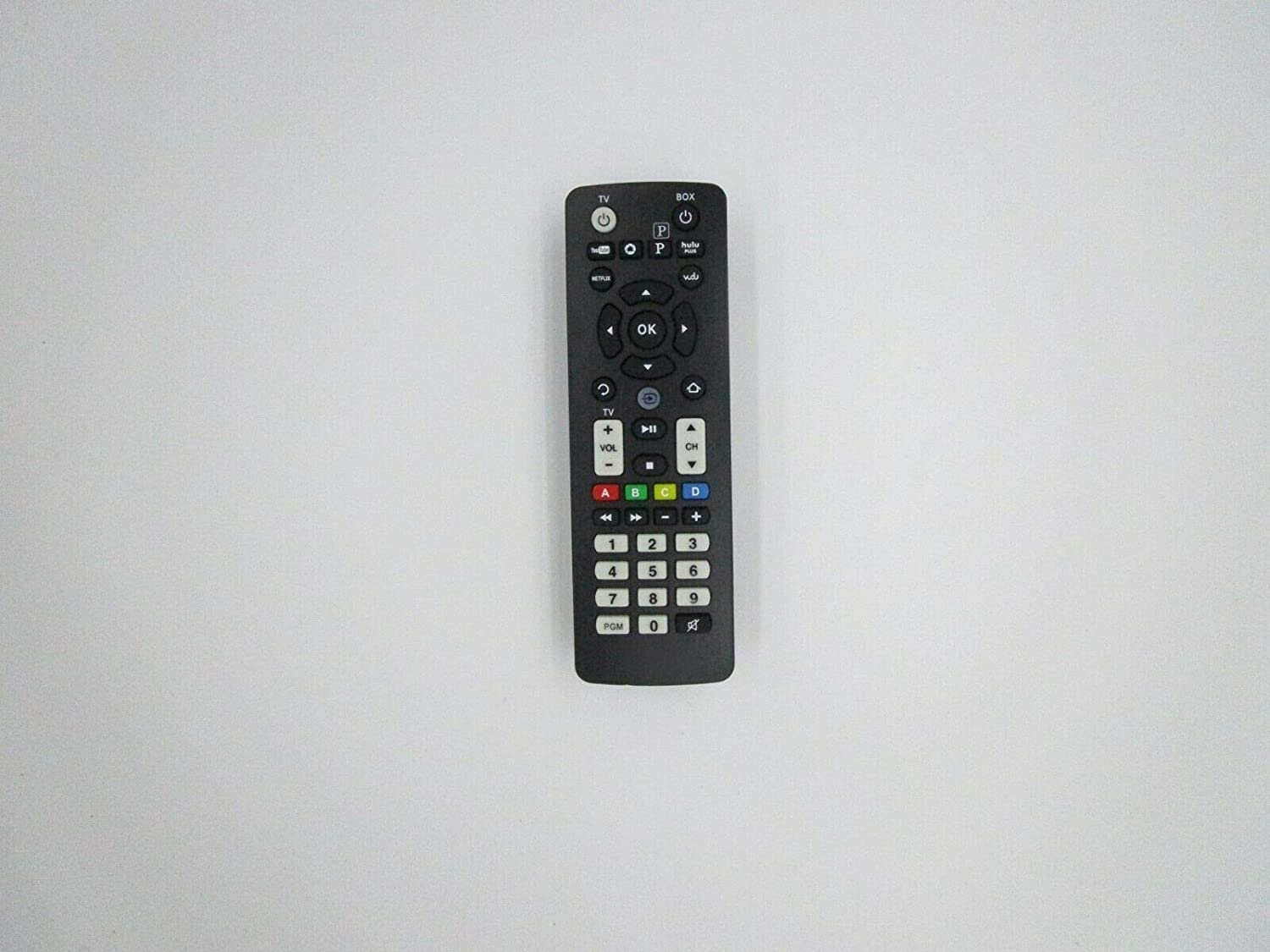 Replacement Remote Control for RCA DSB876WU-BK Wi-Fi Streaming Media Player HDTV TV - (Compatible Model:DSB876WU-WH)