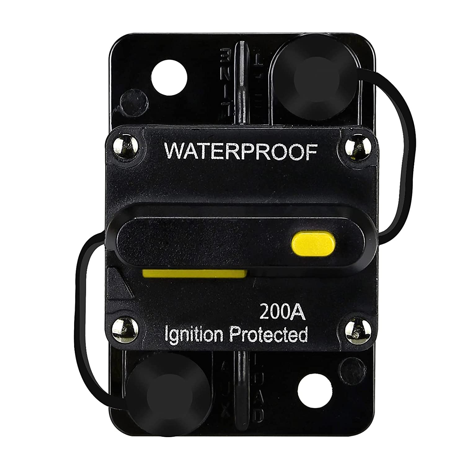 200 Amp Waterproof Limited time trial price Circuit Breaker with Reset DC trust 12V-48V Manual